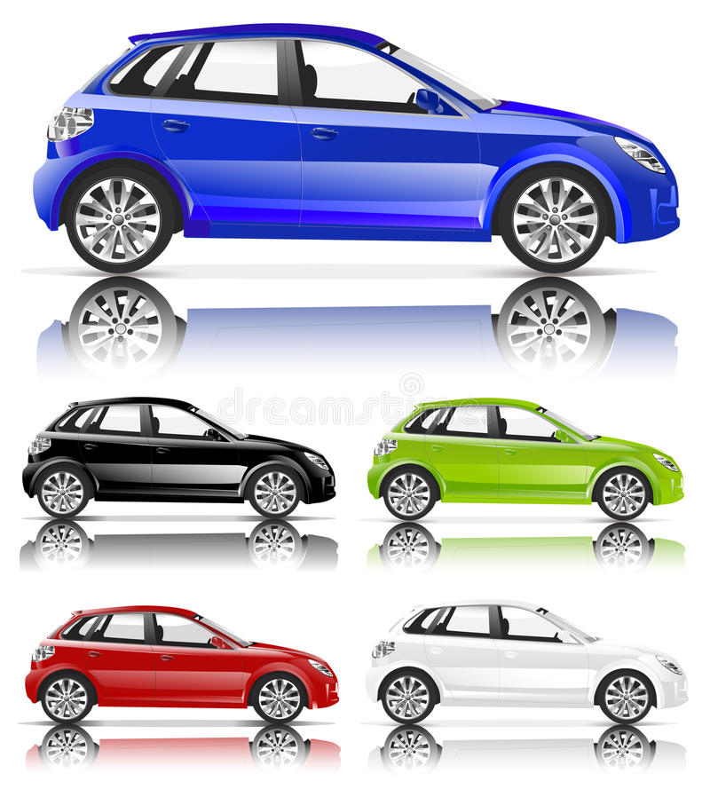 Contemporary compact city car royalty free illustration