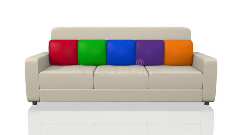 Download Contemporary Couch stock illustration. Image of colorful - 18903260