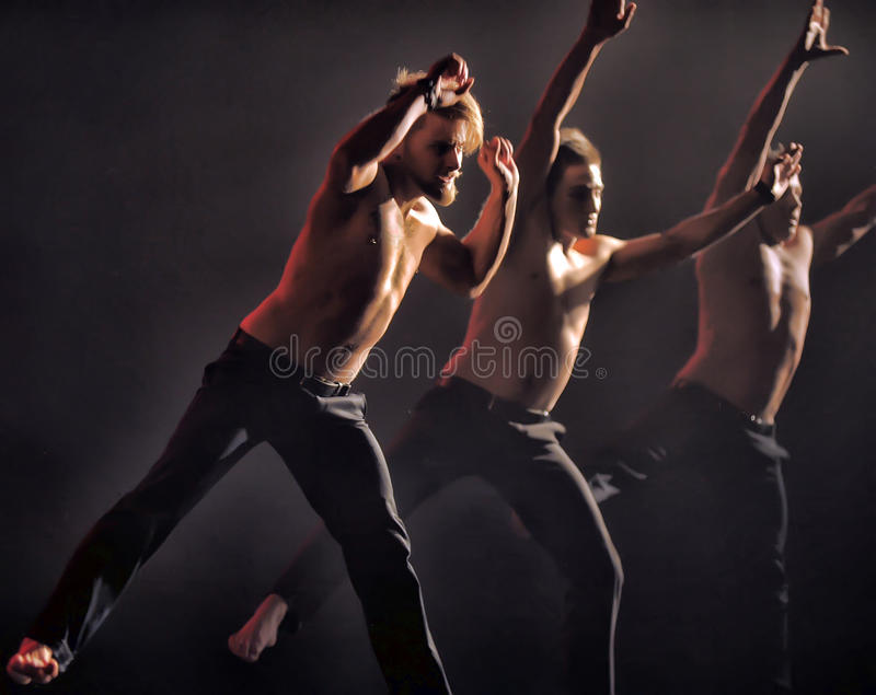 Contemporary Dance Theatre at the scene. St. Petersburg Dance Theatre TEMPTATION stock images