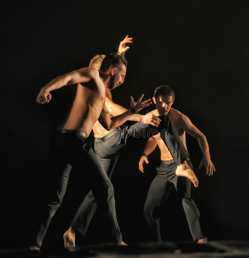 Contemporary Dance Theatre at the scene. St. Petersburg Dance Theatre TEMPTATION stock photography