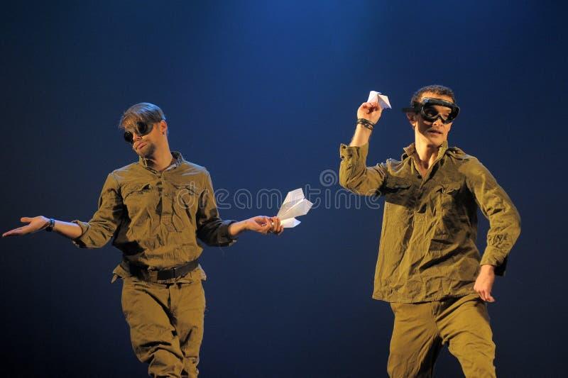 Contemporary Dance Theatre at the scene. St. Petersburg Dance Theatre TEMPTATION stock photo