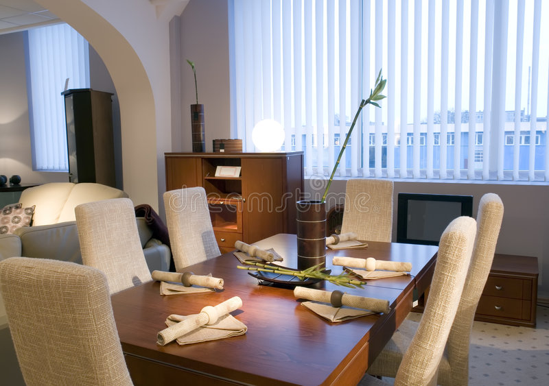 Contemporary Dining Room royalty free stock image