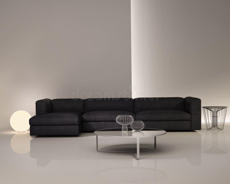 Contemporary elegant luxury white interior vector illustration