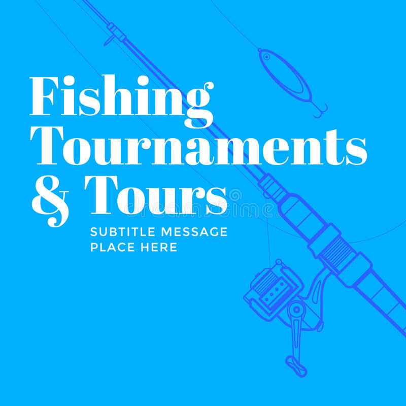 Contemporary flyer fisherman poster template stock vector vector colorful blue indigo modern minimal design fishing tournaments and tours flyer poster template spinning rod background saigontimesfo