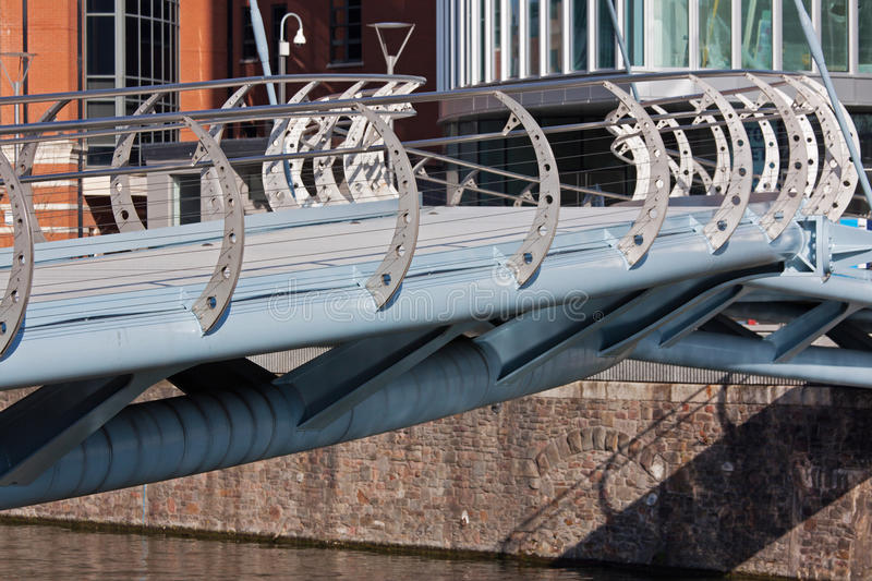 Download Contemporary Footbridge stock photo. Image of urban, canal - 23611964