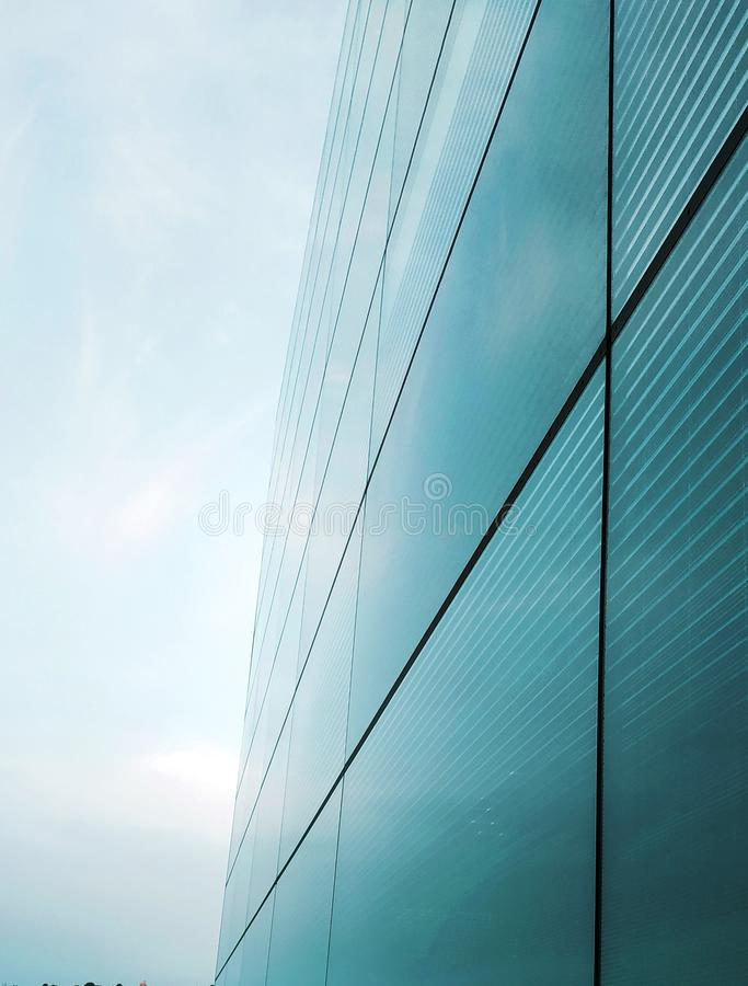 Contemporary glass building for background usage. Abstract architectural background stock photography