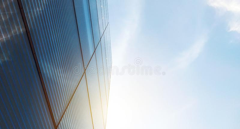 Contemporary glass building for background usage. Abstract architectural background stock images