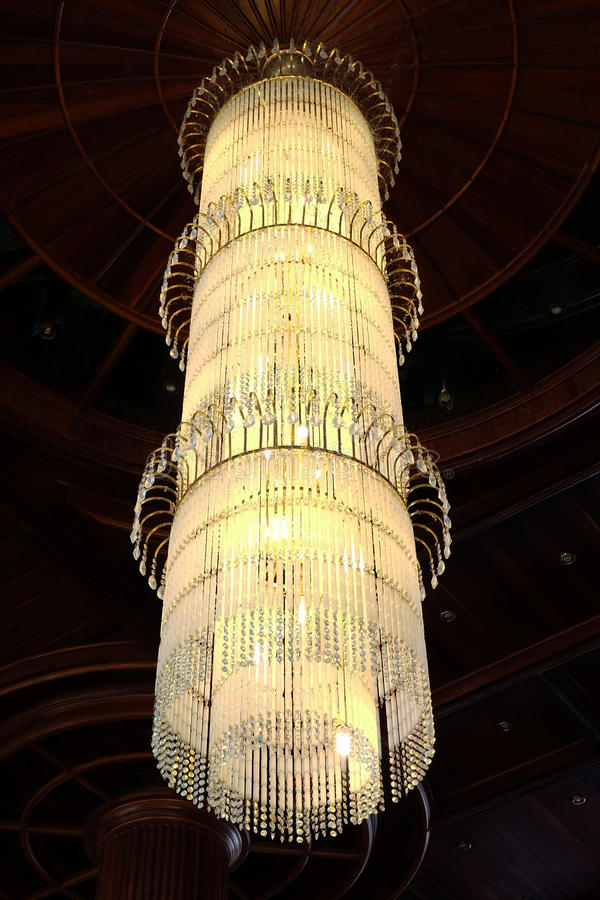 Contemporary glass chandelier royalty free stock images