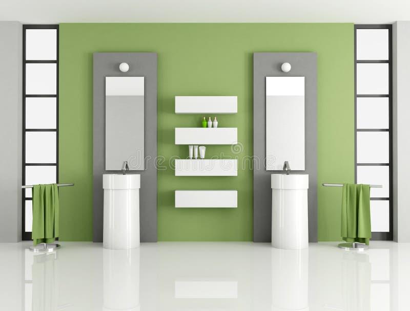 Contemporary green bathroom royalty free stock photos