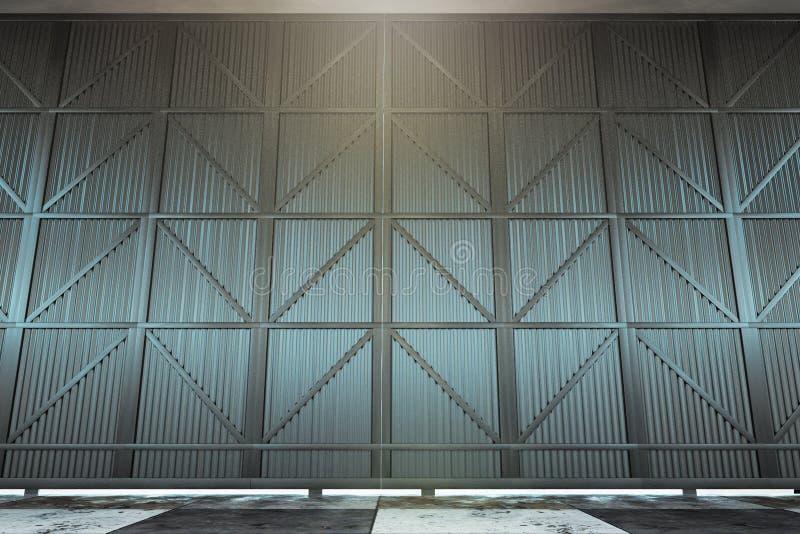Contemporary hangar door stock illustration