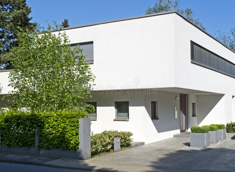 Contemporary home. Contemporary Bauhaus style home in Germany stock photos