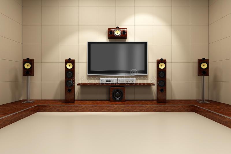 Download Contemporary Home Theater System Stock Illustration - Image: 9618403