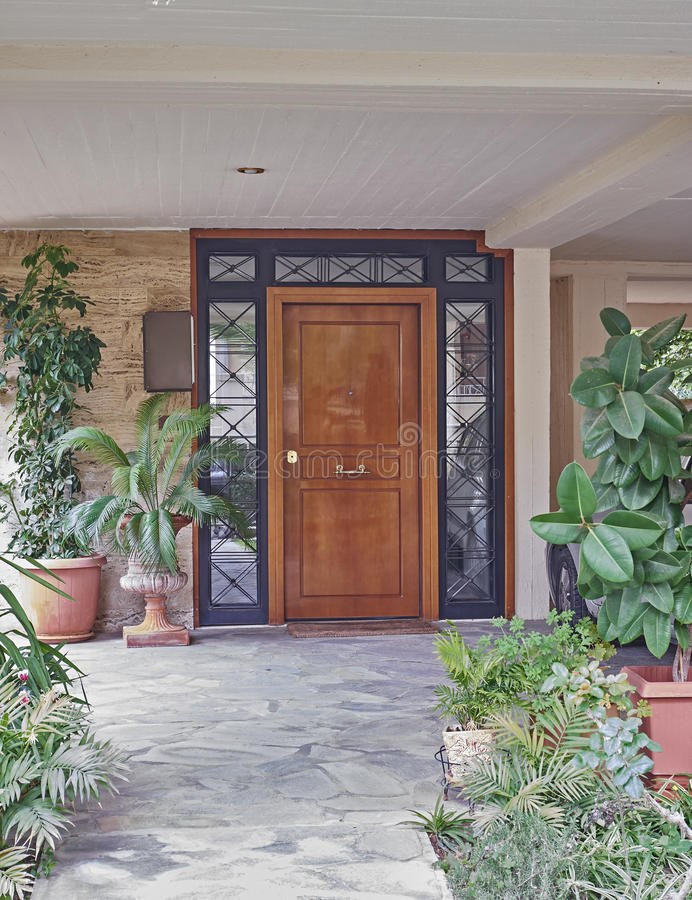 Download Contemporary House Entrance Stock Photo   Image Of House,  Residential: 56384558
