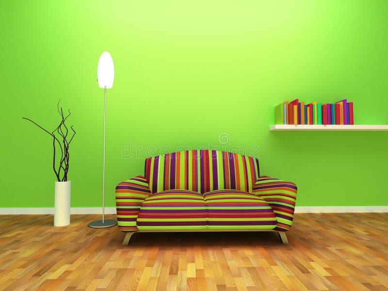 Contemporary interior design royalty free illustration