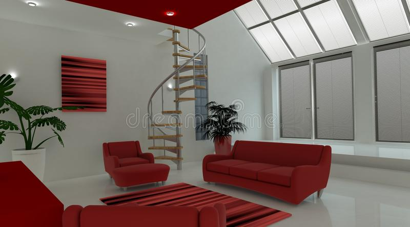 Download Contemporary Interior Living Space Royalty Free Stock Images - Image: 16834479