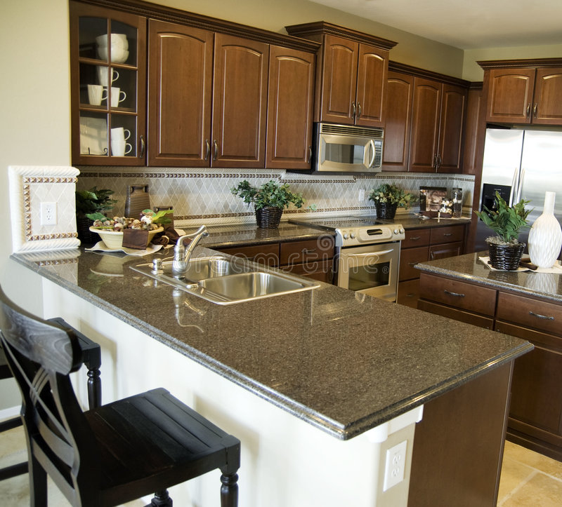 Contemporary kitchen royalty free stock images