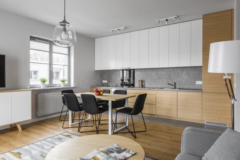 Contemporary kitchen design stock photo