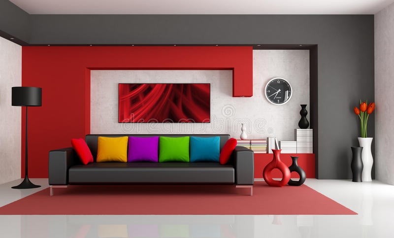 Contemporary Living Room royalty free stock photography