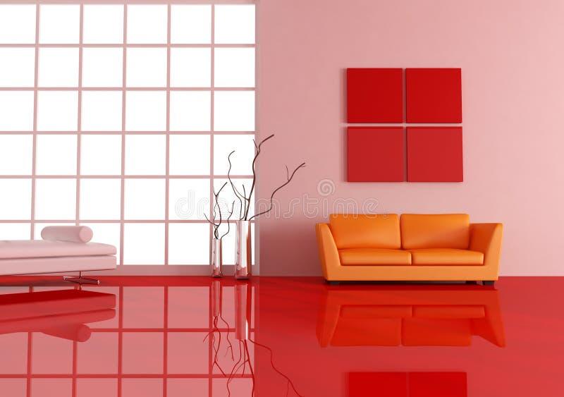 Contemporary living room stock illustration. Illustration of vase ...