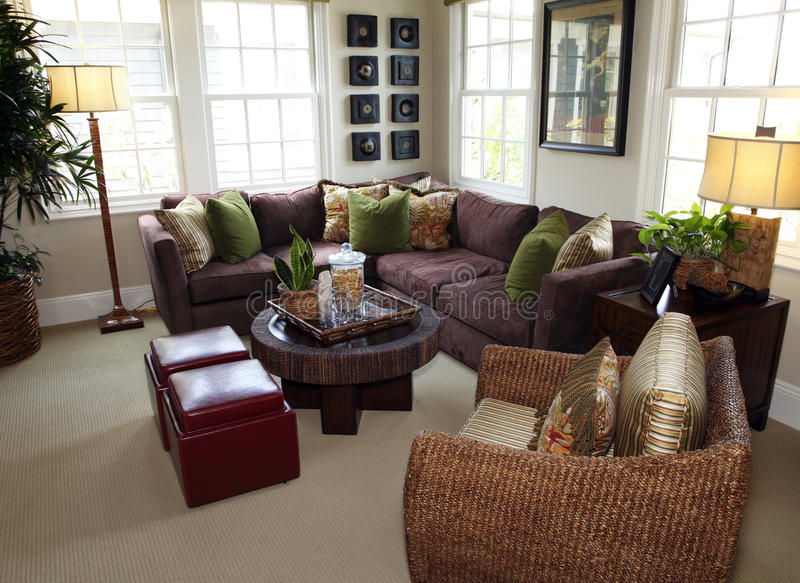 Download Contemporary living room stock photo. Image of arrangement - 9464236