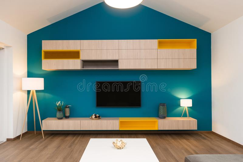 Contemporary living-room interior royalty free stock image