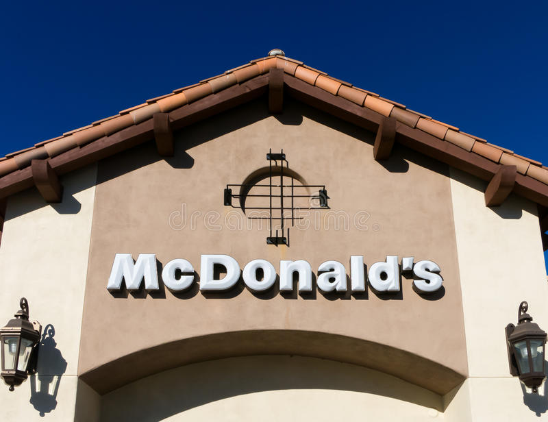 Contemporary McDonald's Restaurant Exterior royalty free stock photos