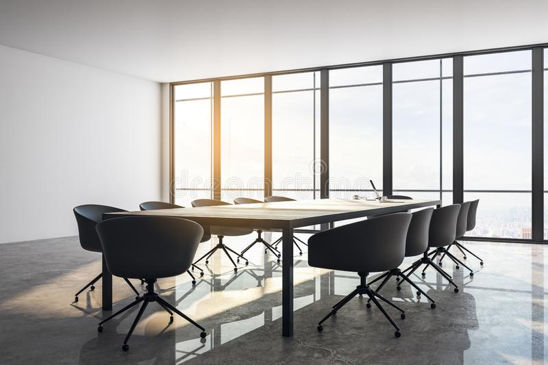 Contemporary meeting room royalty free illustration