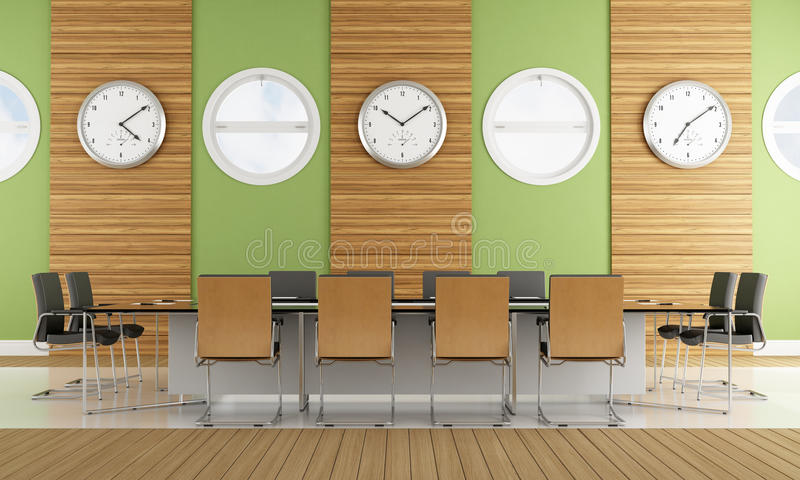 Download Contemporary meeting room stock illustration. Illustration of conference - 33436979