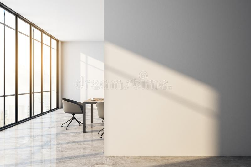 Contemporary meeting room with copyspace vector illustration