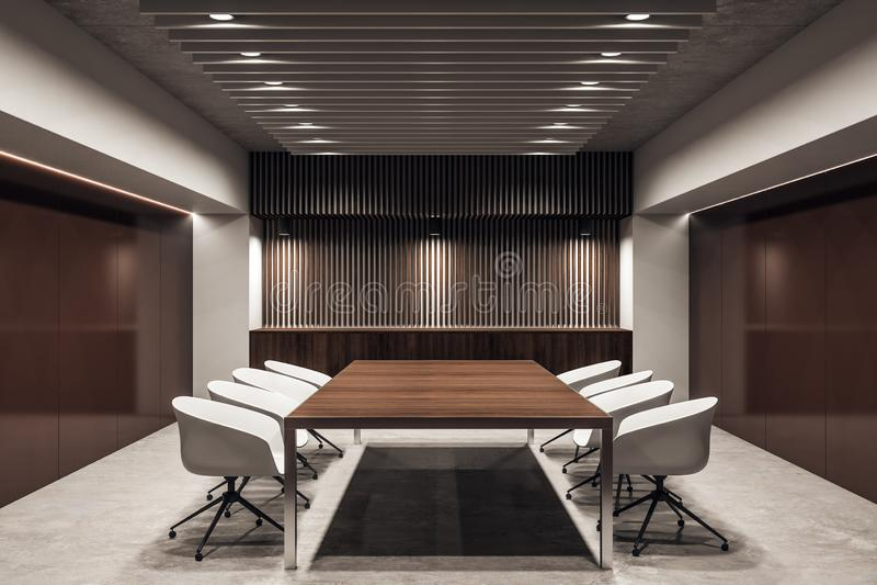 Contemporary meeting room interior stock illustration