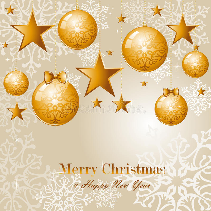 Contemporary Merry Christmas background EPS10 vect royalty free stock image