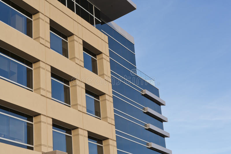 Contemporary Office Building with Stone Facade stock photography