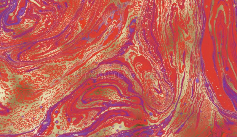 Beautiful abstract background. Marbled paper. Colourful ink. royalty free stock photo