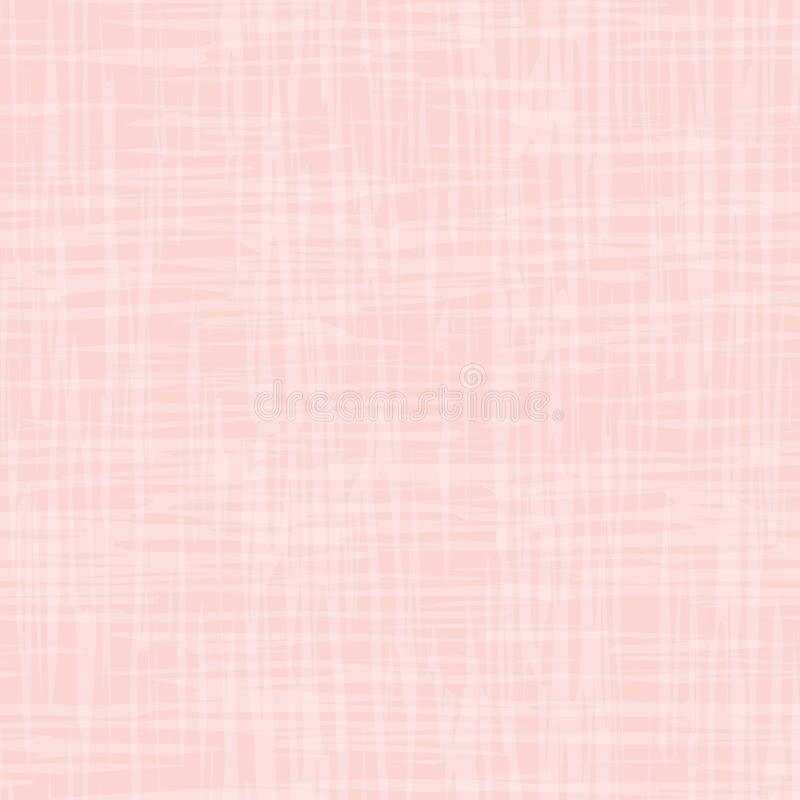 Contemporary pastel pink and white watercolor effect subtle texture. Vector seamless grid pattern on pink background vector illustration