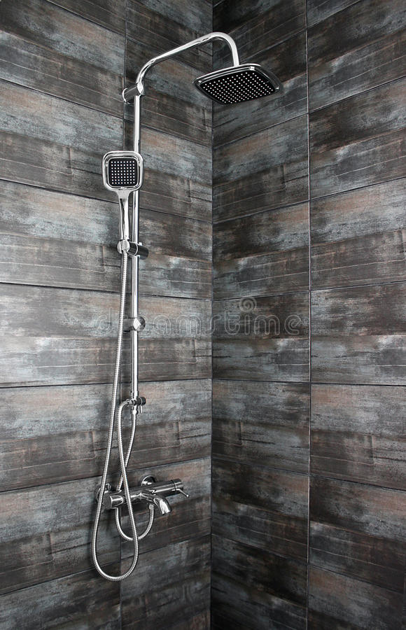 Contemporary shower stock photography