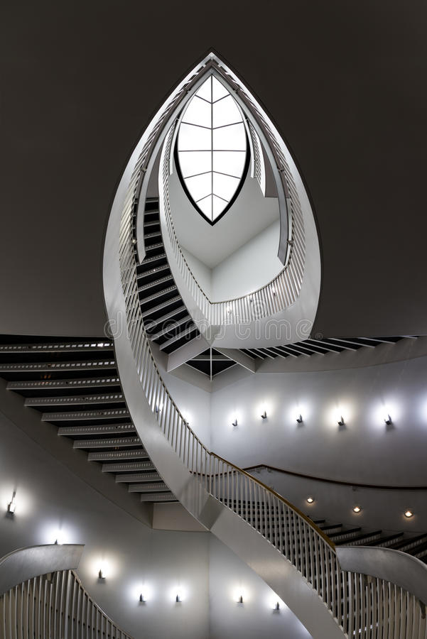 Download Contemporary Staircase Stock Image. Image Of Nobody, Spiral    35361053