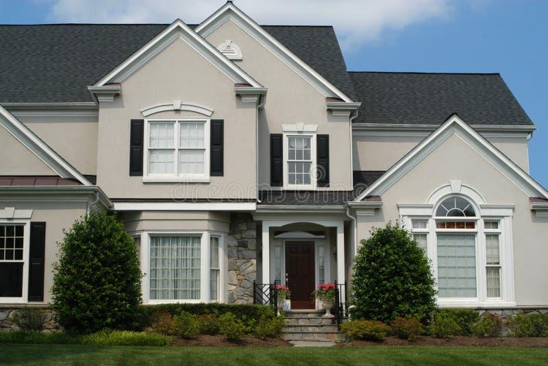 Contemporary Suburban Home royalty free stock photography