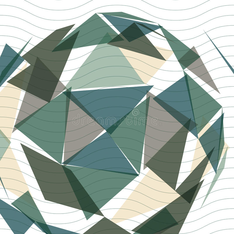 Contemporary tech stylish construction, abstract dimensional background with geometric overlay figures. 3d illusive perspective c. Overing, eps10 vector royalty free illustration