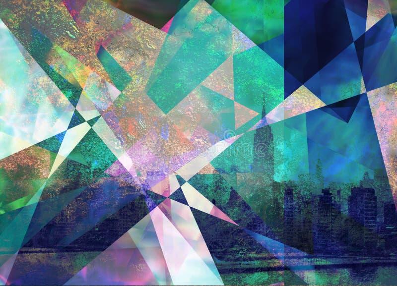 Contemporary urban abstract composition vector illustration
