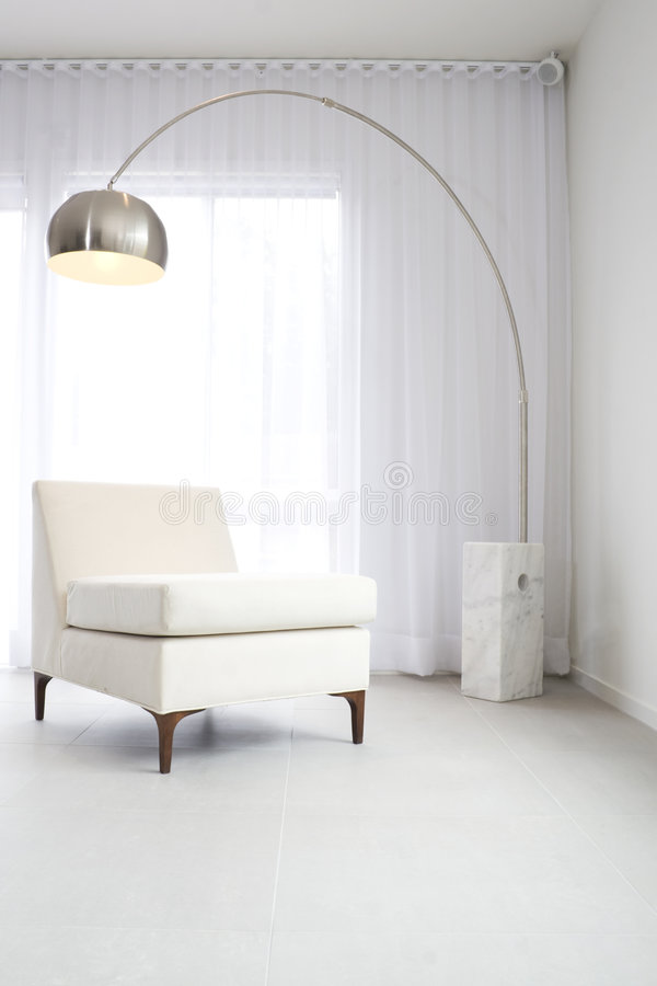 Contemporary White Interior Royalty Free Stock Photography