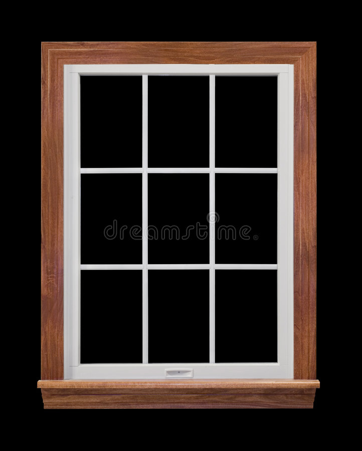 Contemporary Window Frame. Contemporary, residential window frame isolated on black royalty free stock photography