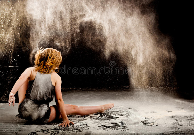 Contemporary dance performer back stock photography