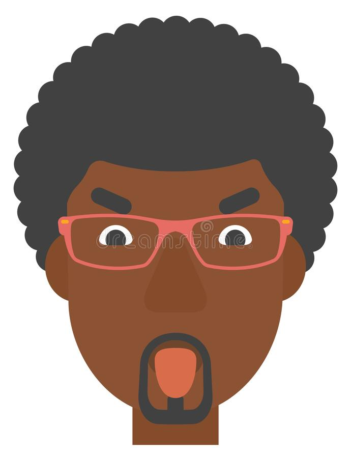 Contemptuous man sticking out his tongue. royalty free illustration