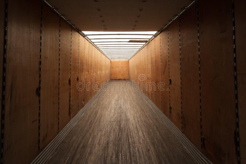Contenedor para mercancías interior imágenes de archivo libres de regalías