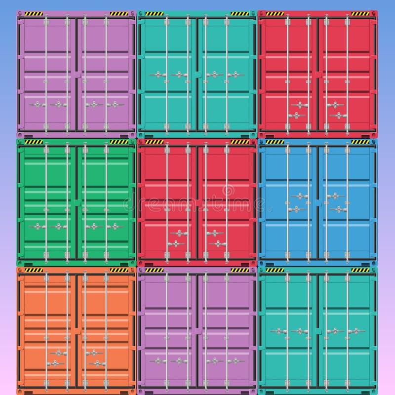 Contenedores  stock de ilustración