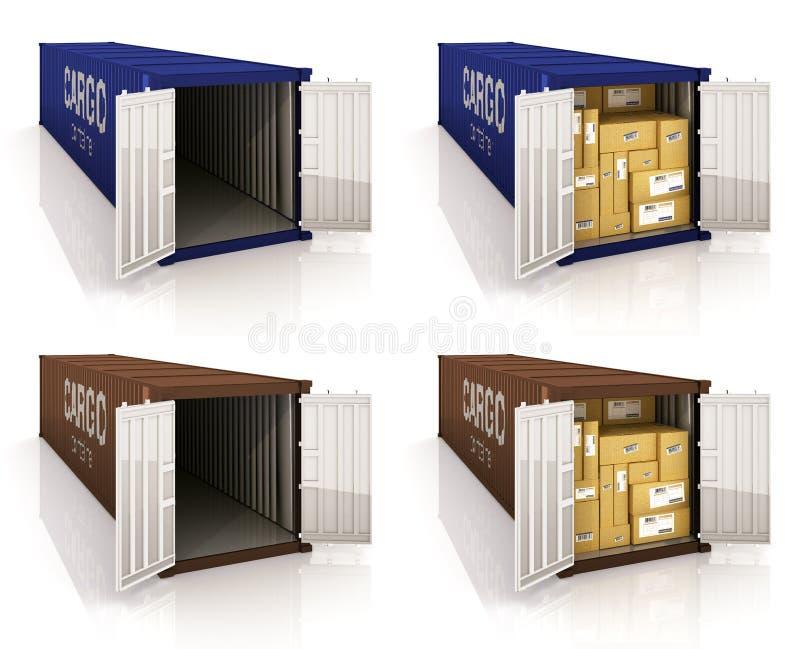 Contenedores para mercancías stock de ilustración