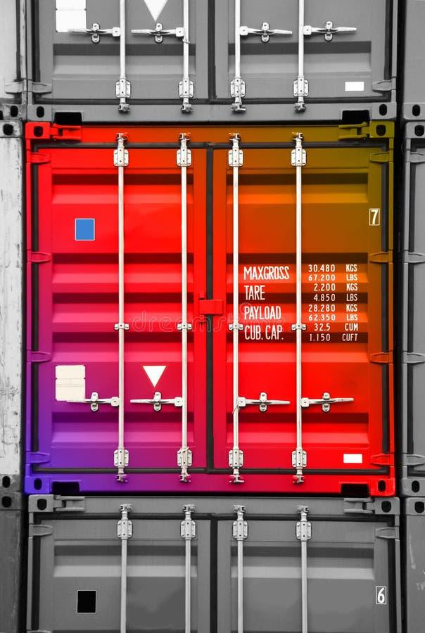 Download Conteneur 01 Noir-blancs Multicolores Image stock - Image du exportation, cargaison: 737737