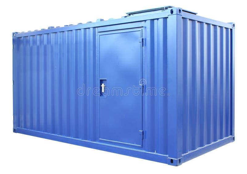 Conteneur bleu photo libre de droits