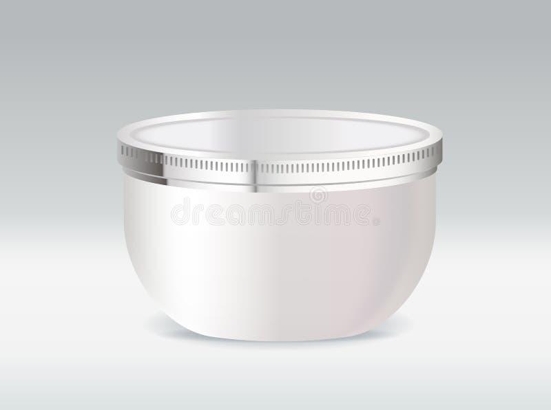 Conteneur cosmétique pour la crème corporelle ou le gel de cheveu illustration de vecteur
