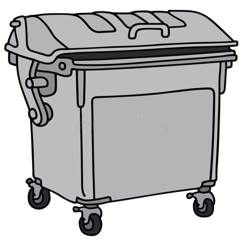 Conteneur d'ordures en métal illustration libre de droits
